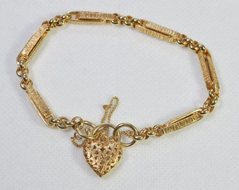 Victorian style 9ct Gold Bracelet