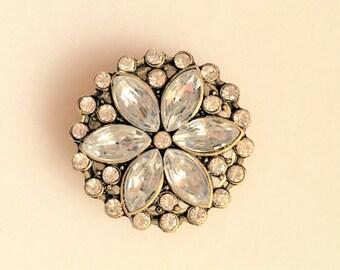 Crystal Floral Brooch/Scarf/Hijab Pin