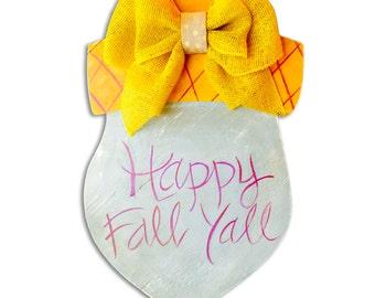 Fall Acorn Door Hanger