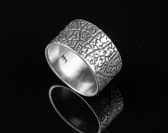 LEAF VEIN Sterling Silver Ring, silver, silver jewelry, rings, silver ring, silver rings, sterling silver, artisan, artisan jewelry