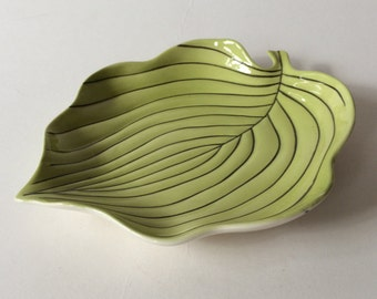 Vintage Carlton Ware Australian Design Handpainted Leaf Dish