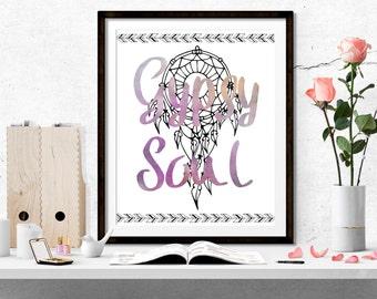 Gypsy Soul Art, Watercolor Dreamcatcher, Instant Download, 2 sizes