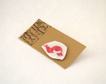 Tiny Floating Whale Badge