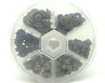 158 beads bronze metal