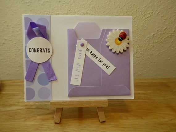 Congratulations Handmade Card - luxury personalised unique quality special bespoke UK