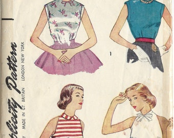 1953 Vintage Sewing Pattern B32 BLOUSE (1192) Simplicity 4349