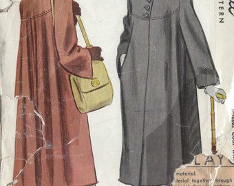 "1947 Vintage Sewing Pattern COAT B32"" (83) McCall 6993"