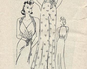 1940s WW2 Vintage Sewing Pattern B36 NIGHTDRESS (1476)  Weldons 92