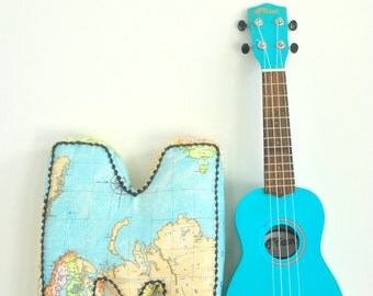 Map Letter Cushion, personalised cushion, boy gift, baby boy