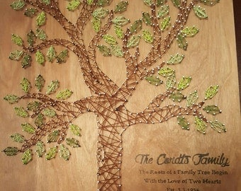 Family Tree nail string art