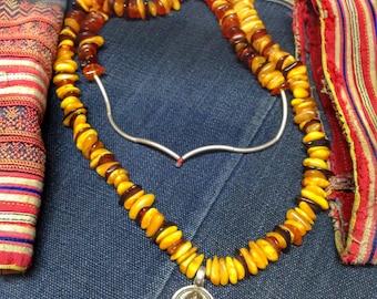 Tibetan jewelry'Amber  silver The Buddha Necklace