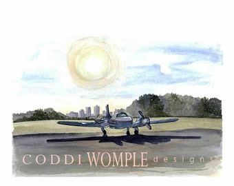 Items Similar To Wild Blue Yonder Boys Airplane Art