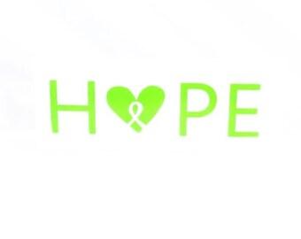 Lyme Disease Awareness {HOPE} Decal Sticker