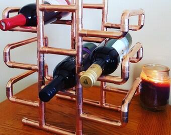 10 Bottle Copper Wine Rack