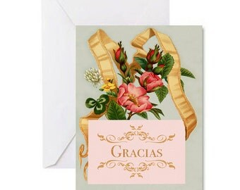 Gracias Victorian/Vintage Spanish Thank You Cards