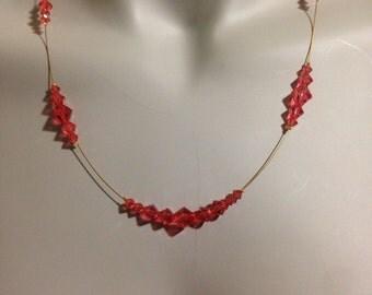 Swarovski crystal illusion necklace