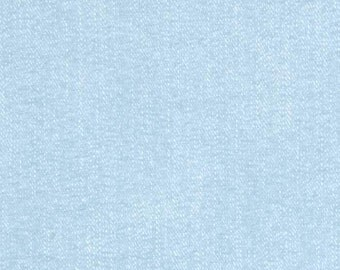 Light Blue Fabric - Riley Blake Lucky Star Fabric - Light Blue Denim Looking Fabric