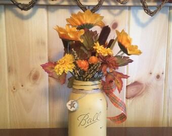 Mason Jar Floral Arrangment