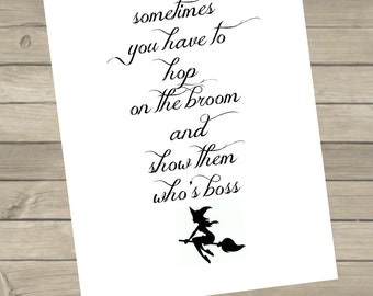 Show Them Who's Boss Printable