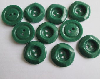 Vintage green buttons (set of 10)
