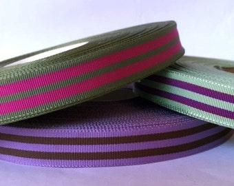 preppy striped grosgrain ribbon