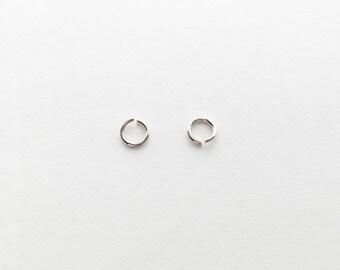 Silver O Jump Rings - 10 grams JO1-S
