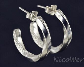 Silver earrings women's earrings jewelry earrings 925 gift SOR131