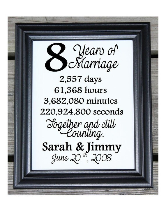 8 Yr Wedding Gift : Cotton Print 8th Wedding Gift 8 Years Together 8 Years ...