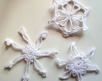 Set of 3 Crochet snowflakes