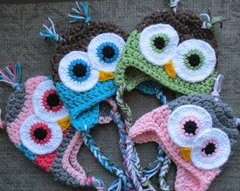 Crochet Chunky Owl Hat Pattern : CROCHET OWL HAT Pattern Kerry Jayne Design Baby Owl Hat