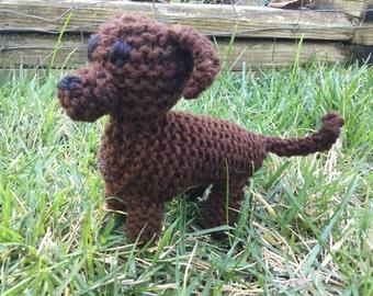 Knitted Dachshund Puppy