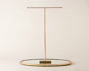 Gold T-Bar Necklace, Jewelry Display Piece Holder - For Retail or Personal Use