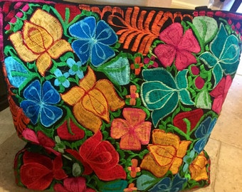 Mexican Embroidery Large Tote Bag