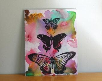 Three Butterflies.