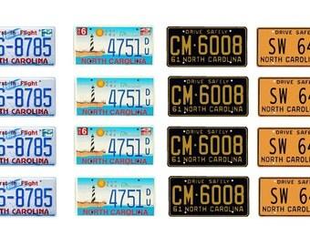 scale model North Carolina car license tag plates