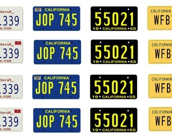 scale model car California license tag plates