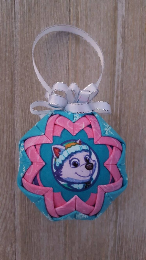 Everest Inspired Handcrafted Quilted Fabric Christmas Ornament