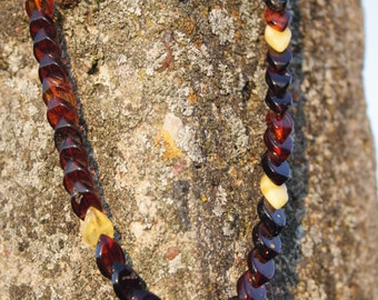 Elegant Adult Baltic Amber Necklace. 45cm Natural handmade beaded amber.