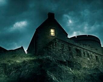 Edinburgh, Scotland, Castle, Royalty, Ancient, dusk wall art, photography