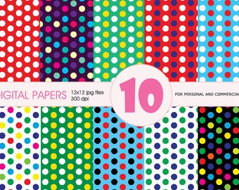 SALE! Digital Paper Pack Personal and Commercial Use, dots paper