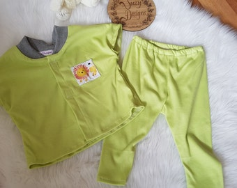 Baby Green top and pants set