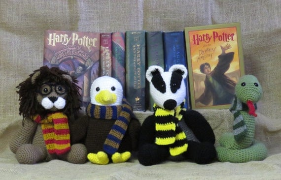 Harry Potter Stuffed Animal Gryffindor Slytherin Ravenclaw