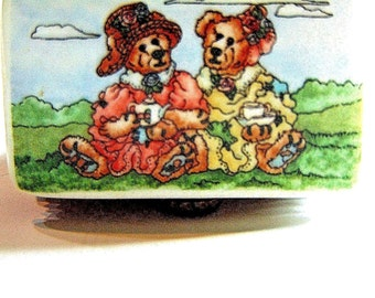 BOYDS BEARS Le Bearmoge - Tea Time Bears Limited Edition Dresser Trinket Box