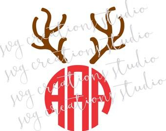 christmas svg, reindeer antlers svg, svg, cuttable files, vinyl files, antler svg,