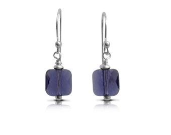 Crystal Earrings Everyday Earrings, Boho Jewelry Everyday Earrings, Gift for Women Dangle Earrings Drop Earrings, Birthstone Tanzanite