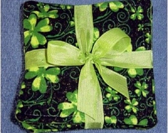 St. Patrick's Day Fabric Coaster sets of 6 - 4""