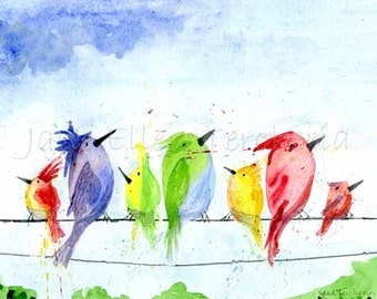 Birds On A Wire Giclee