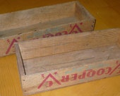 Vintage Set of 2 Cooper Cheese Boxes