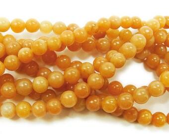 Red Aventurine Round Gemstone Beads