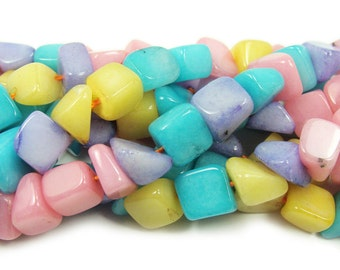 Multi Color Agate Nugget Gemstone Beads